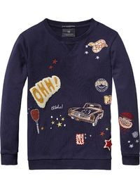 Versierde sweater | Sweats | Meisjeskleding bij Scotch & Soda