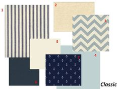 possible crib bedding but navy and polka dots instead of anchors