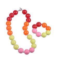 2015 New Baby Girls Acrylic Chunky Necklace + Bracelet Set Kids Bubblegum Necklace Jewelry Set Children Accessories //FREE Shipping Worldwide //