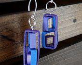 Modern Paper Earrings / Lightweight Earrings / 1st Anniversary Gift / Paper Jewelry / Eco Friendly Jewelry - Rubix