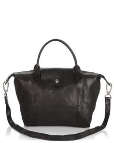 834ca721bf7e Longchamp Le Pliage Small Leather Satchel Handbags - Bloomingdale s
