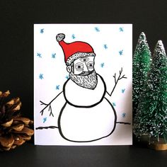 Funny Christmas Card, Funny holiday card, Christmas card, Holiday card, Weird…