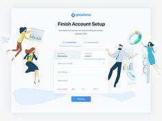 Account setup page