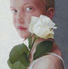 The girl with the rose, Jantina Peperkamp (Dutch)
