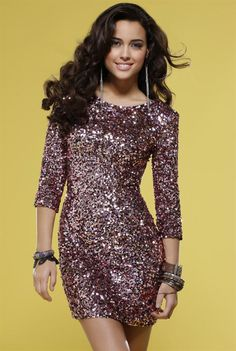 This sexy short sequin dress by Scala sparkles like pink champagne for your next semi formal affair. A dazzling short cocktail dress with slim fit design that's sure to flatter your figure and look great. Prom Dresses With Sleeves, Homecoming Dresses, Cute Dresses, Beautiful Dresses, Short Dresses, Formal Dresses, Wholesale Prom Dresses, Prom Dress Shopping, Woman Fashion