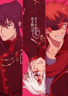 D. Gray-man HALLOW animado visual
