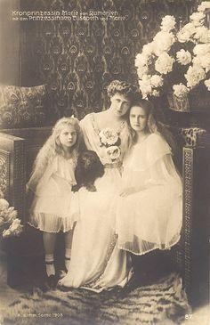 Princess Maria, Crown Princess Marie and Princess Elisabeth of Romania.