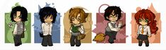 cute or what? it's snape, sirius, lupin, james, and lily! ah, so cute