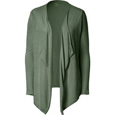 Majestic Open Front Cardigan ($47) ❤ liked on Polyvore featuring tops, cardigans, olive, sweaters, green, drape front cardigan, olive cardigan, olive green top, long sleeve cardigan and long sleeve tops