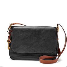 Fossil Authentic ZB6760001 Harper Large Saddle Crossbody Leather Womens Bag