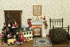 Image result for christmas dolls house
