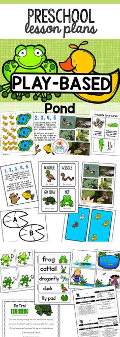 Bring the pond into the classroom with this Pre-K Lesson Plan set! Full of math, literacy and center ideas to make your pond theme on point! Pre K Lesson Plans, Infant Lesson Plans, Lesson Plans For Toddlers, Preschool Lesson Plans, Preschool Writing, Math Literacy, Preschool Activities, Early Literacy, Special Education Schedule