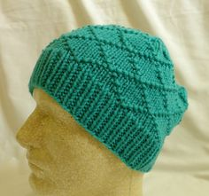 Turquoise Diamonds  Med/Lg beanie in turquoise by PurlyShells808, $17.00
