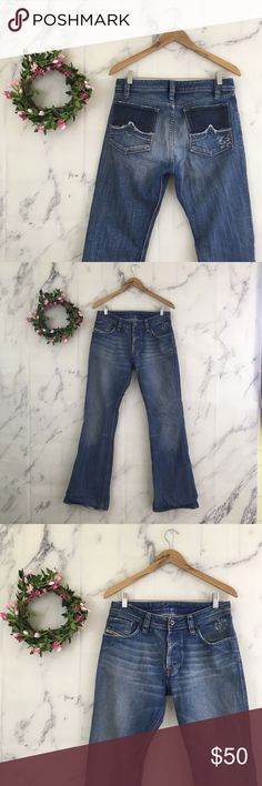 ff82bf97 Shop Women's Diesel Blue size 29 Boot Cut at a discounted price at Poshmark.  Description: Diesel Industry Woman's Size 29 Button Fly Bootcut Jeans