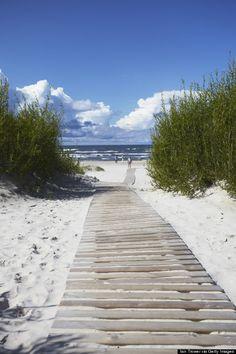 Boardwalk Leading to Beach, Liepaja, Latvia Photographic Print by Ian Trower Ocean Beach, Beach Day, Summer Beach, Photo Ocean, I Love The Beach, All Nature, Riga, Beach Scenes, Coastal Style