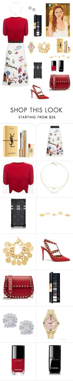 """""""#231"""" by tamara-wolfram ❤ liked on Polyvore featuring Yves Saint Laurent, Dolce&Gabbana, Alexander McQueen, Chloé, Chanel, Valentino, Miu Miu, Effy Jewelry and Rolex"""