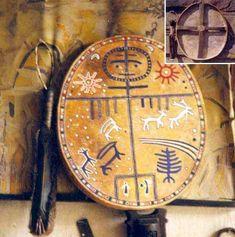 (Tengri) Tengri in drum. Tengri, Old Turk, Mongol, Korea, Siberia God.
