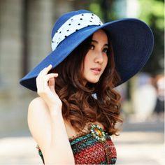 Bow wide brim sun hat for women summer wear