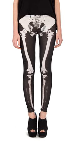 skeleton leggings, to be honest i dont think i actually would wear this, but pinning it anyways cuz its freakin awesome