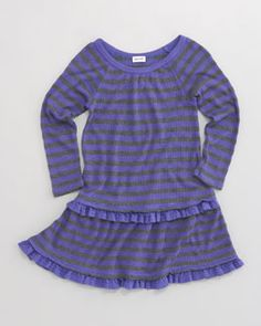 Splendid Kids Girls Sleeveless Dress Purple White Blue Stripes Lines Cute
