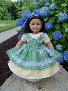 American Girl Mid 1800s Apron Gown / Clothes for American Girl Dolls