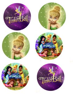 Tinkerbell Cupcake Toppers- Digital file Print as many as you need. $6.00, via Etsy.