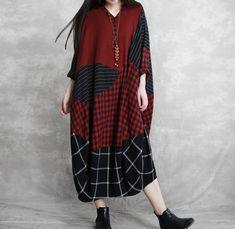 Women Oversized Dresses, midi dress, cocoon dress, large size Dresses, robe