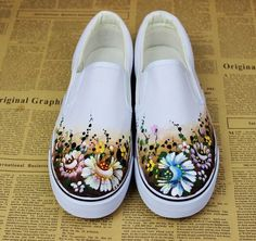 Image result for painted canvas shoes