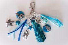 Bijou de sac liberty thème OCEAN : Porte clés par coquelicocotte