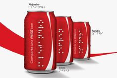 ▇ Coca-Cola Introduces Braille-Covered Cans for the Blind