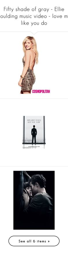 """Fifty shade of gray - Ellie goulding music video - love me like you do"" by torilovesserenade ❤ liked on Polyvore featuring fifty shades of grey and accessories"