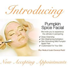 Introducing our Pumpkin Spice Steam Facial!! Relax and unwind with the soothing benefits of pumpkin, warm towels, relaxing neck, shoulder, hand and arm massage. Leave feeling balanced, energized along with a warm glow! This is a treatment worth repeating @seasonssalonanddayspa #seasonssalon #pumpkinspice #pumpkinfacial #pumpkinpeel #pumpkinmassage #pumpkinpedicure #pumpkinfromheadtotoe #Padgram