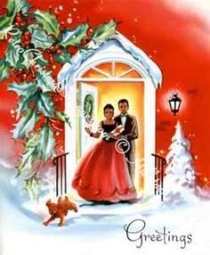 African American Christmas Greeting Card, 1950's