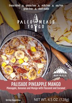 Paleo Meals To Go Palisade Pineapple Mango makes a splash with a freeze-dried blend of tropical fruits and nuts that take you to paradise. #PaleoMealsToGo #GlutenFree #FreezeDried #Backpacking #Hiking #Camping #Outdoors #Food #Paleo #PaleoDiet #feedyouradventure #health #adventure #beach #backcountry #travel #outside #MRE #nutrition #nomnom #grainfree #cooking