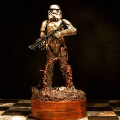 Star Wars, Stormtrooper, World War I, Mud, Homemade, Diorama, Figurine