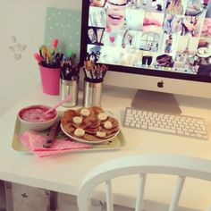 Discovered by Pretty Little Thing. Find images and videos about beautiful, pink . Discovered by Pretty Little Thing. Find images and videos about beautiful, pink and food on We Heart It - the app to get lost in what you love. Babe Cave, Roomspiration, Just Girly Things, Girls World, Lazy Days, Lazy Sunday, Dream Bedroom, House Rooms, My Room