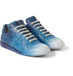 Maison Martin MargielaDégradé Panelled Leather Sneakers