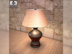 3D Model Ashley Colter Table Lamp c4d, obj, 3ds, fbx