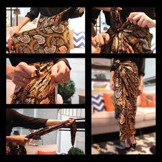 How to wear batik #iwantirtabatik