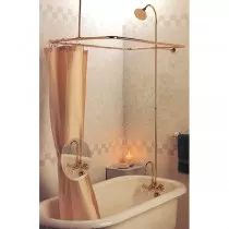 this strom plumbing clawfoot tub shower enclosures allows you to convert your clawfoot bath tub into a shower includes gooseneck tub faucet with lettered