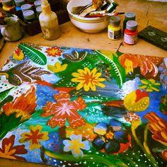 Liberar tensiones y flexibilizar resistencias. By Pau Minotto #paint #art #pauminotto #flowers