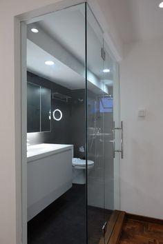 Toilet. HDB maisonette. Singapore public housing. Atelier M+A. Minimalist. Featured in Dwell Asia.