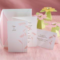 Delightful Daisies Wedding Invitation | #exclusivelyweddings | #pinkwedding