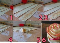 Pastry dough with thin apple slices rolled up? Apple Slices, Apple Pie, Apple Roses, Biscotti, Food Art, Food Inspiration, Delish, Deserts, Treats