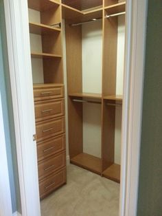 Naples Closets, LLC | Custom Closet Company |  Naples, FL | Small Walk in Closet with Dresser Unit