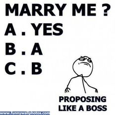 How to propose like a boss!