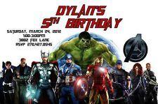 Avengers Custom Designed Birthday Invitation