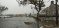 Bay Street Sag Harbor 5 hours before high tide and the height of the storm hit.  29 Oct 2012