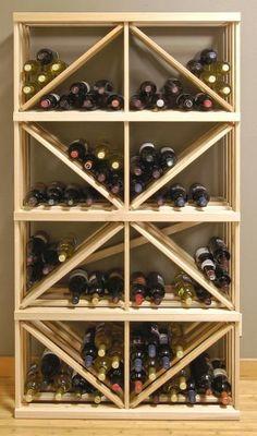 Wine Rack Box Diamond Bin Bulk Storage... can so see this as a diy and much cheapier!
