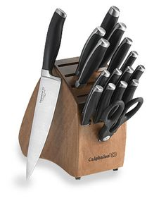 I really wish I had this Calphalon Contemporary 17-Piece Knife Block Set! #BedBathAndBeyond